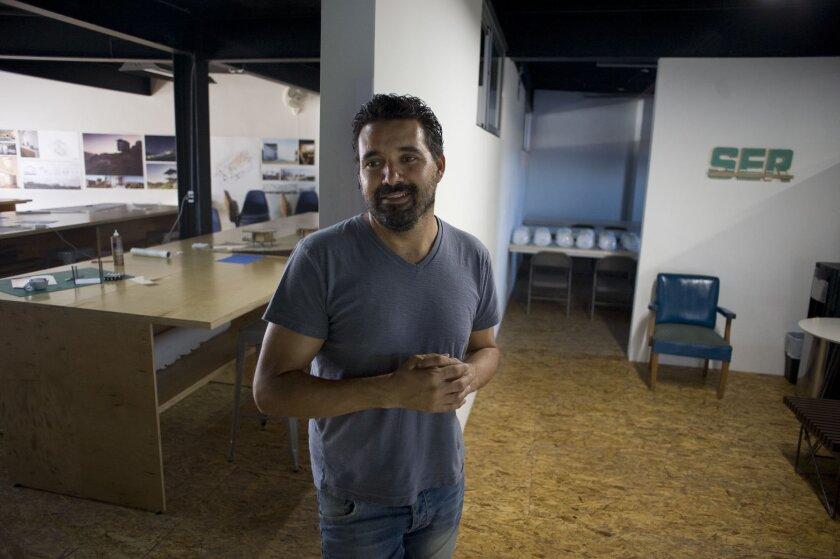Jorge Gracia, director of the Escuela Libre de Arquitectura poses for a photograph is the school's location on November 12, 2014 in Tijuana, Mexico. Photo - David Maung