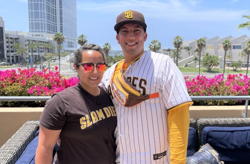 Kelly and Alex Brown, longtime Padres fans, won a contest created to help people make up for pandemic-postponed celebrations.