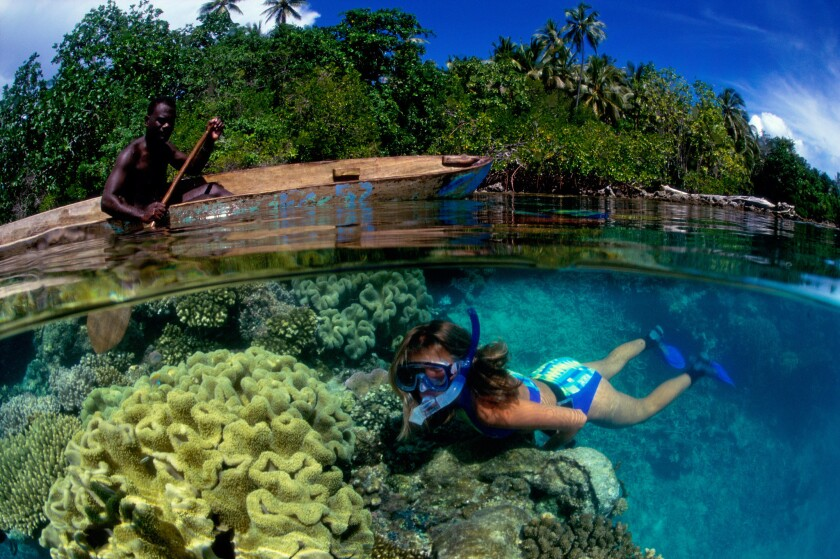 Mushroom Island Munda Solomon Islands