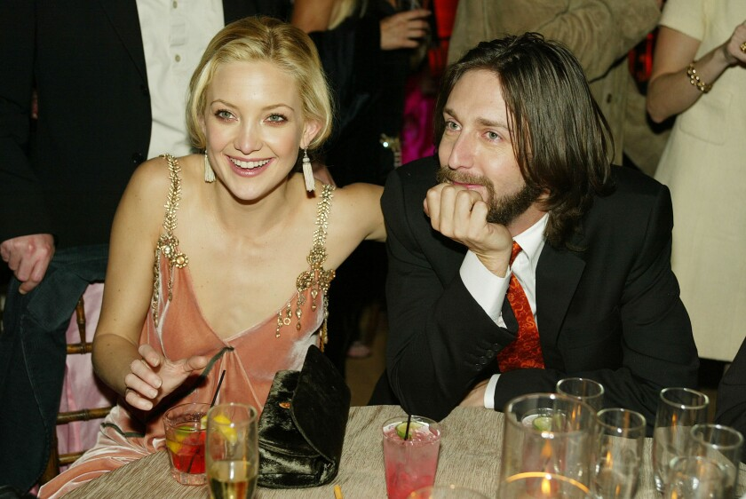 Kate Hudson and Chris Robinson at a party in 2003.