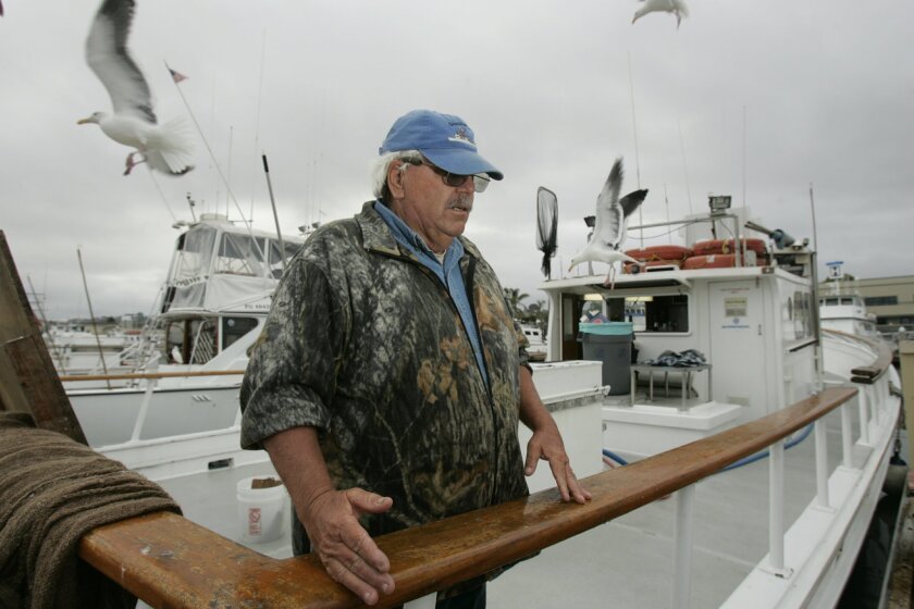 "Ron Baker, a fishing boat captain out of Point Loma, is opposed to the state's decision to expand marine protected areas: ""It's going to affect a lot of people, not just sportsfishermen."""