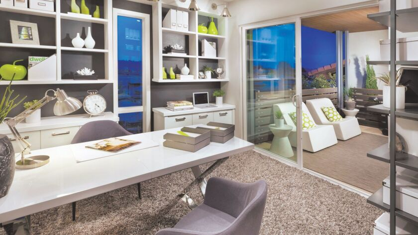 Connecting a home office to an outdoor living space is a popular trend. (CalAtlantic Homes)