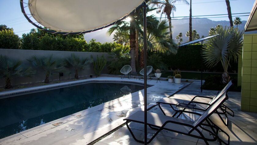 The couple hope to next add a shade structure and outdoor bar to the backyard pool area.