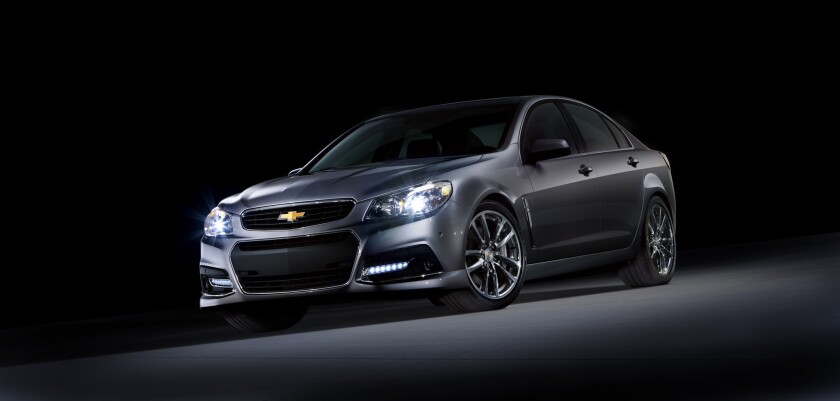 Chevrolet unveiled the SS sedan at the Daytona International Speedway. The rear-wheel-drive car has a 6.2-liter V-8 from the outgoing Corvette, which makes 415 horsepower.