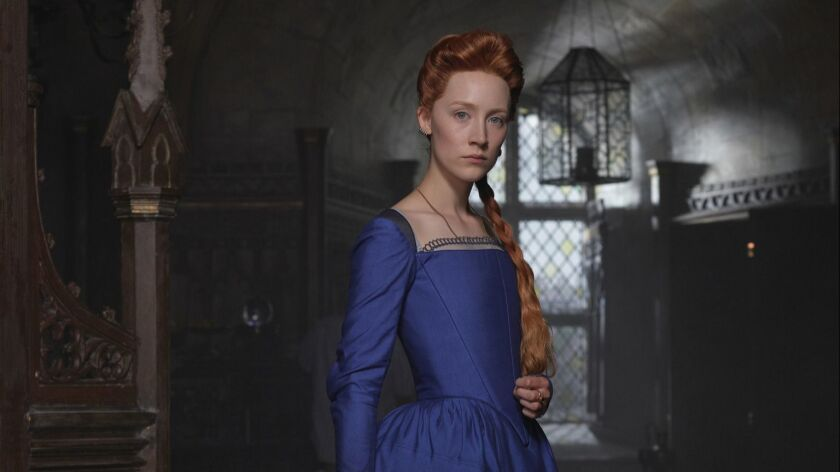 "Saoirse Ronan as Mary Stuart in ""MARY QUEEN OF SCOTS,"" a Focus Features release. Credit: John Mathie"