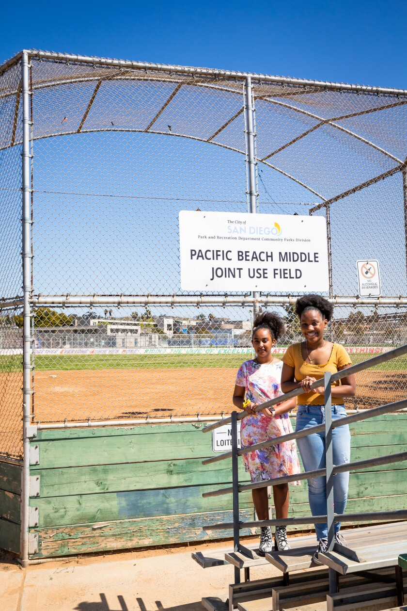Middle Schoolers Juliniel Woods and Nuhamin Woldeyes pushed for park renaming to Fannie and William Payne Community Park.
