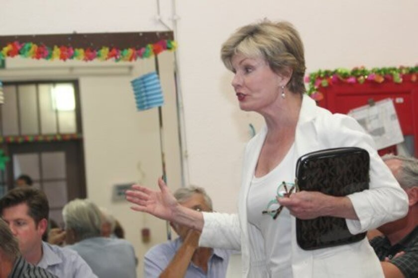 La Jollan Katherine Kennedy is upset her rebuild plans were pulled from the La Jolla Community Planning Association's consent agenda after receiving unanimous approval from the LJCPA's Development Permit Review subcommittee. She said further delays pose a hardship.  Pat Sherman