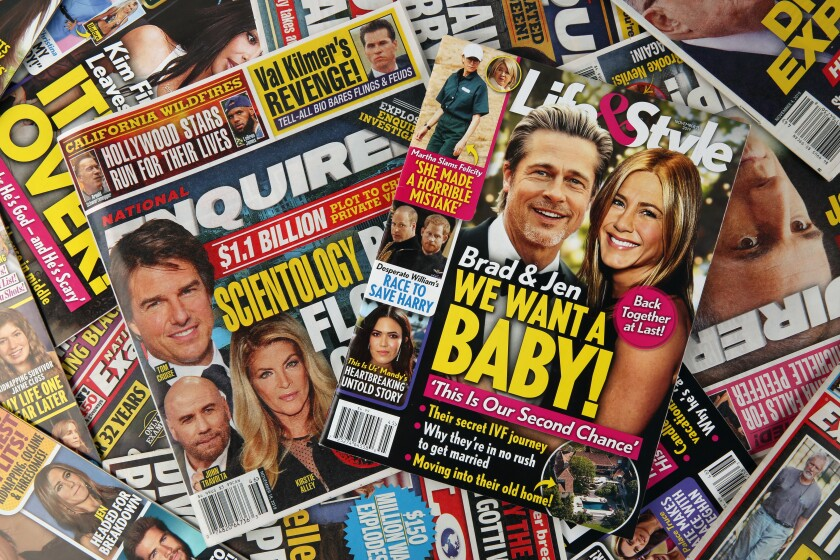 Tabloids including the National Enquirer and Life & Style