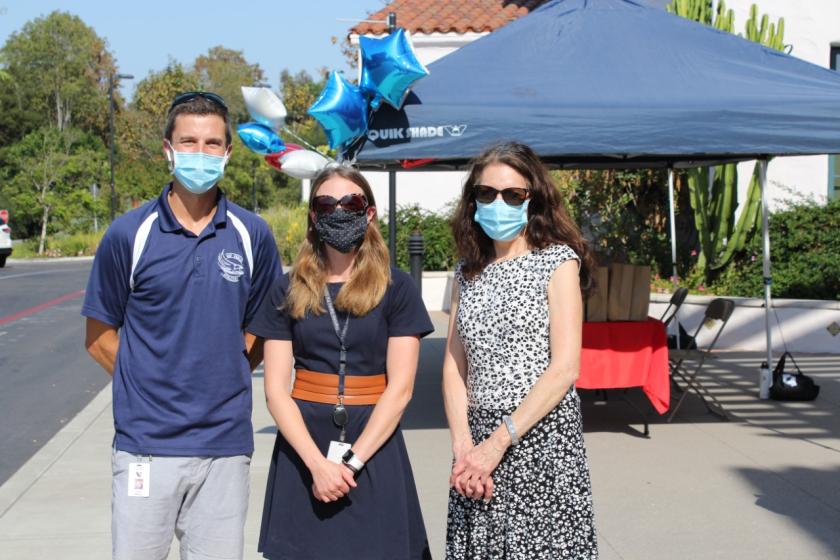 (L-R) Assistant Principal John Galipault, K-8 Principal Megan Loh and Superintendent, Donna Tripi