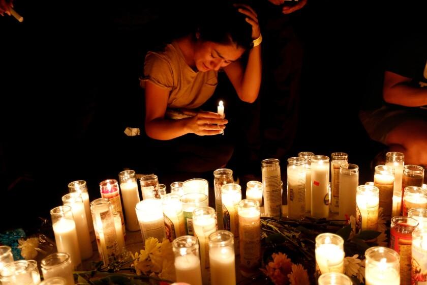 Vigil for slain Marine