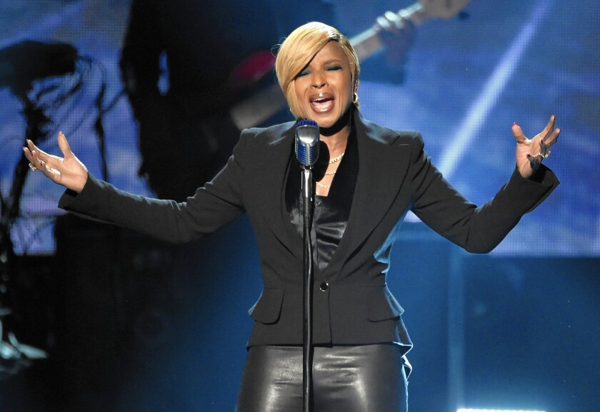 Mary J. Blige performs at the 2014 American Music Awards at Nokia Theatre L.A. Live on Nov. 23, 2014, in Los Angeles.