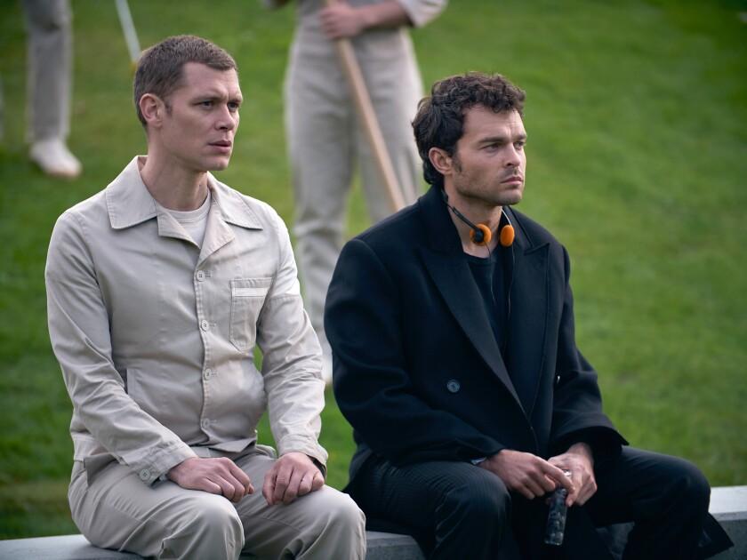 """Joseph Morgan and Alden Ehrenreich in """"Brave New World"""""""
