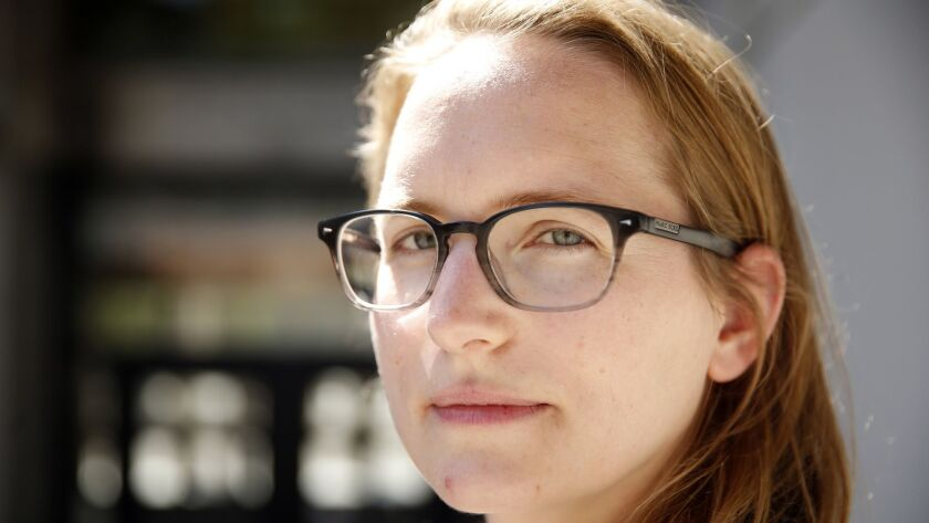 In a Wednesday, April 20, 2016 photo, Eva Hagberg Fisher, a PhD student at UC Berkeley, poses for a