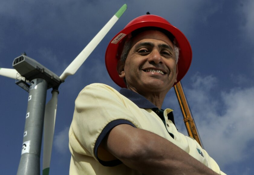 UCSD professor Ahmed Elgamal is leading a study to determine the ability of wind turbines to withstand earthquakes.