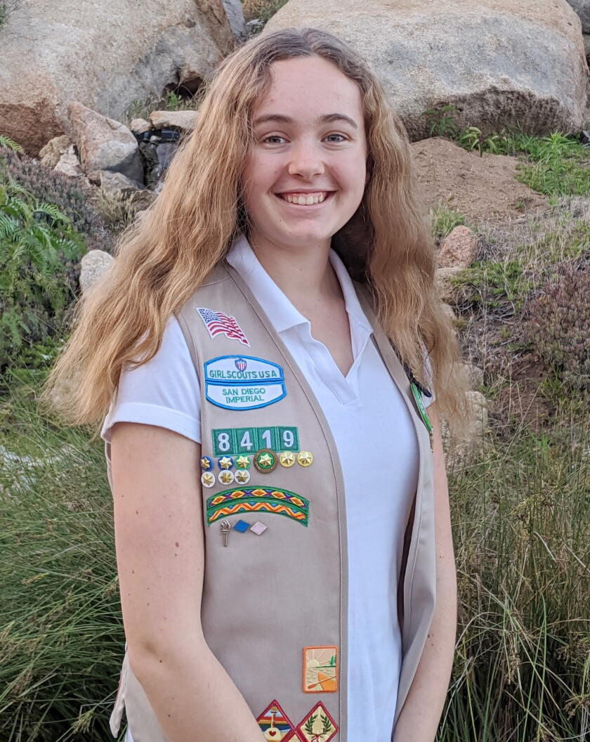 Mikayla Mann earned her Girl Scouts Gold Award by raising awareness of how animals can be killed by secondary poisoning.