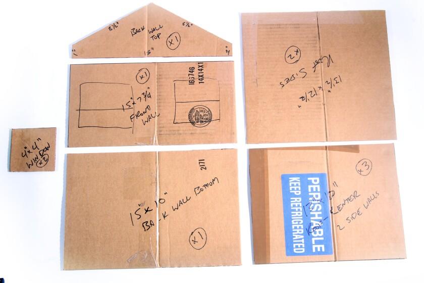 Gingerbread house cardboard templates.