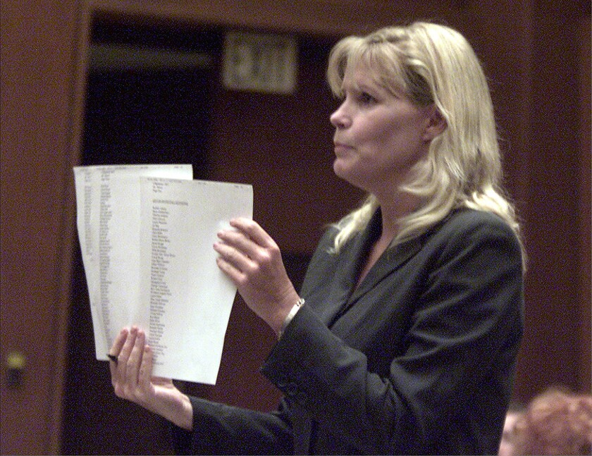 Comments made by Judge Eleanor J. Hunter, shown in 2001, resulted in the reversal of a murder conviction by an appellate court last week.