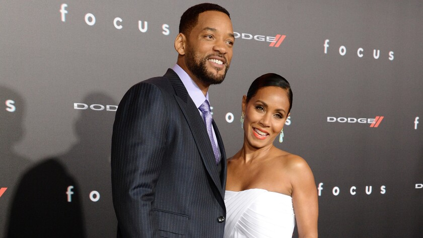 """Will Smith and Jada Pinkett Smith attend the L.A. premiere of """"Focus"""""""