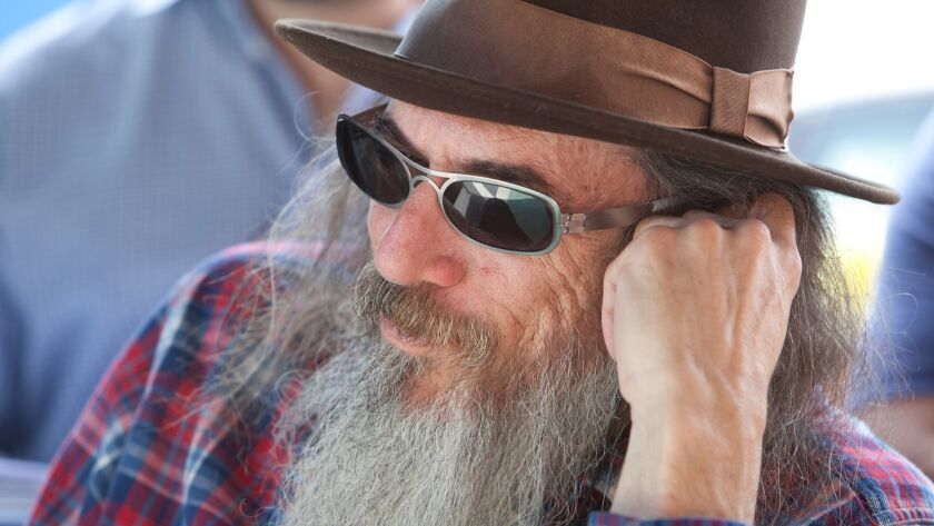 "Writer/director Larry Charles on the set of the movie ""The Dictator."" He'll explore comedy in different cultures."