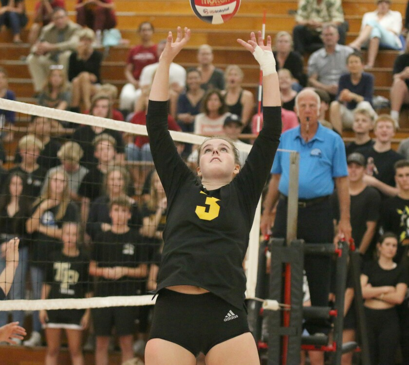 Senior setter Carly Diehl had the Torrey Pines offense running on all cylinders.