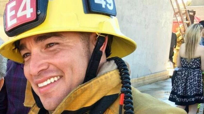 """Marco Urias is """"eager"""" to go to work as a firefighter with the Los Angeles Fire Department."""
