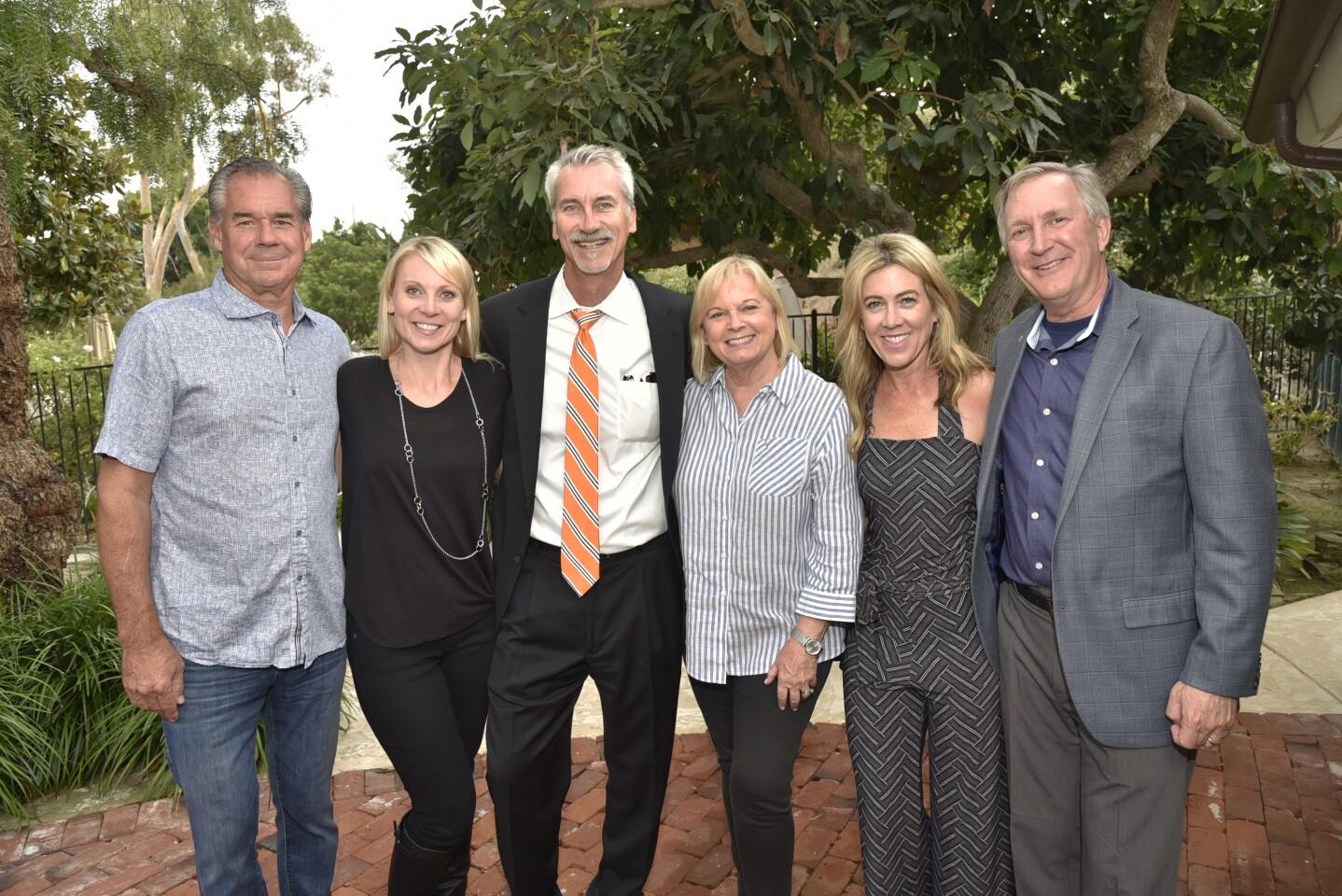 Mike McCarthy, Social Committee co-chair Jerah Payne, Ron Elgart, Beverly Robinson, Connie Sundstrom, Greg Grajek