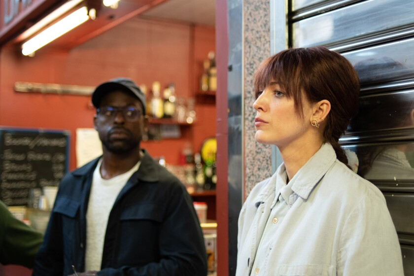 Sterling K. Brown and Blake Lively in the movie 'The Rhythm Section'