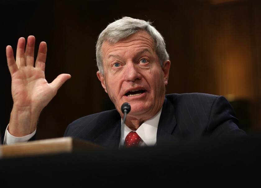 Sen. Max Baucus (D-Mont.) testifies at his confirmation hearing before the Senate Foreign Relations Committee last week.