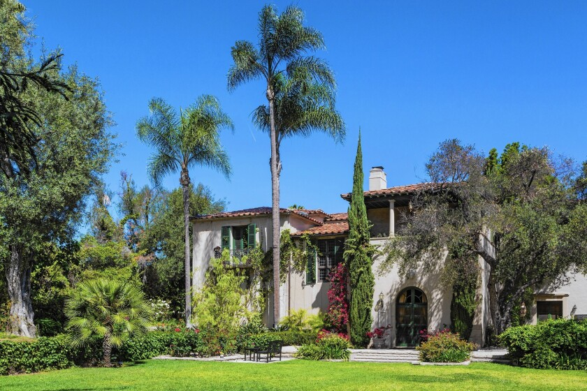 This Italian Revival-style mansion, built in 1925, is one of the many styles found in the area. It was listed last year by Antonio Banderas and Melanie Griffith.