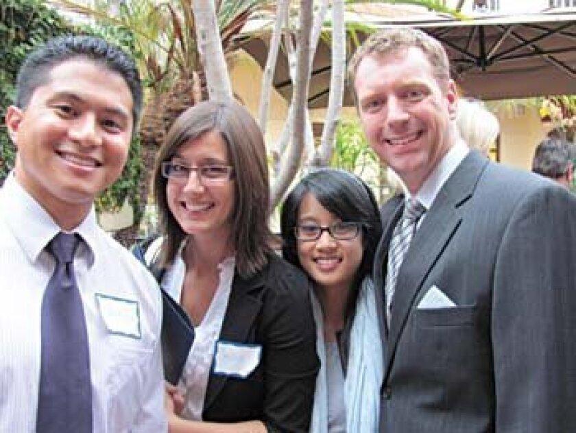 Dr. Wayne Lyn, Sarah Jestice, Thea Bernardo and Bryan Spencer, CPA Photos by Susan DeMaggio