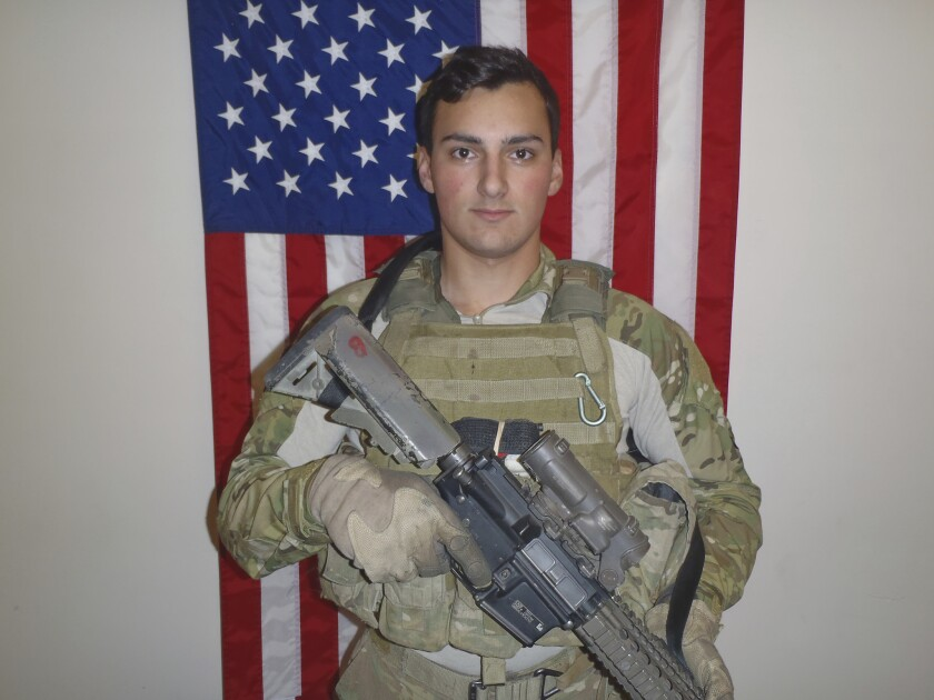 In this undated photo released by the United States Special Operations Command (USSOCOM)/Department of Defense shows Sgt. Leandro Jasso, 25, who was assigned to Company A, 2d Battalion, 75th Ranger Regiment, Joint Base Lewis-McChord, Washington.