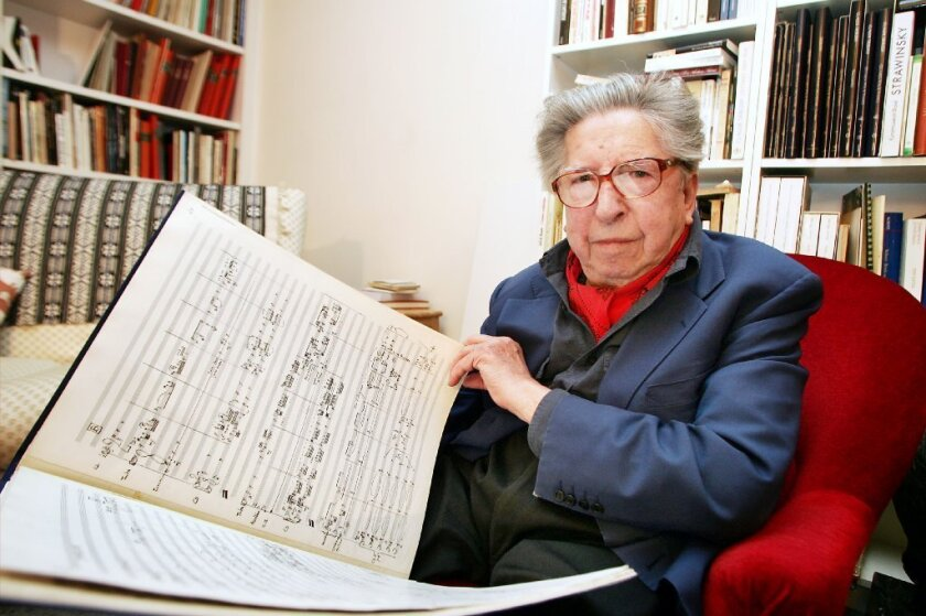 French composer Henri Dutilleux in Paris in 2005.