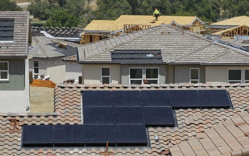 Solar panels on new houses