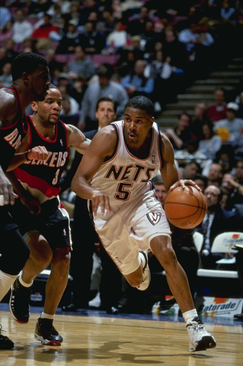 Eric Murdock is pictured here in 1999 with the New Jersey Nets.
