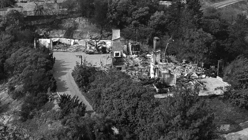 Nov. 7, 1961: Zsa Zsa Gabor's home on Bellagio Place was destroyed while she was in New York. Gabor returned to salvage what she could — while wearing a diamond and pearls.
