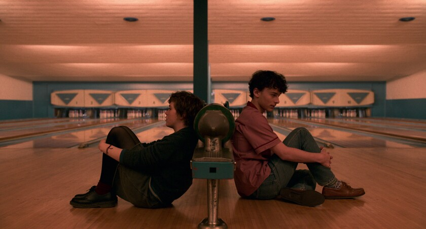 """Sophia Lillis and Wyatt Oleff in Netflix's """"I Am Not Okay with This"""""""