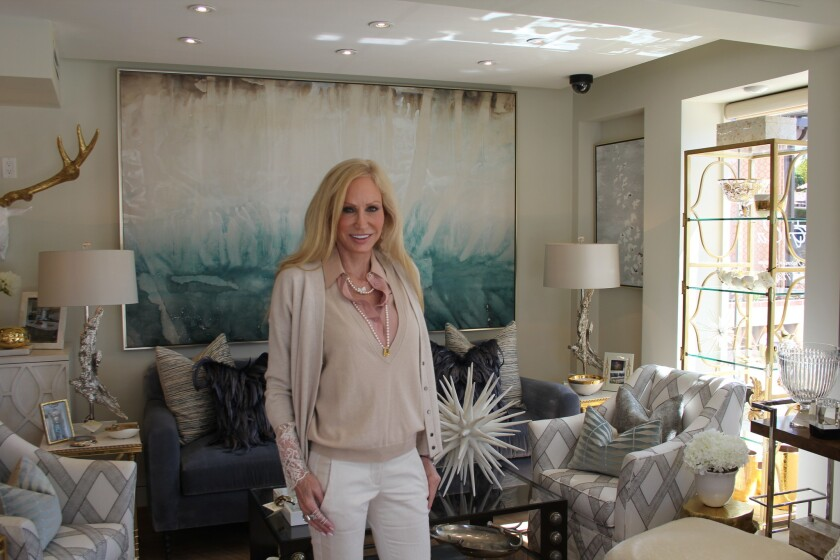Susan Spath in her new Kern and Company showroom in the Rancho Santa Fe village.