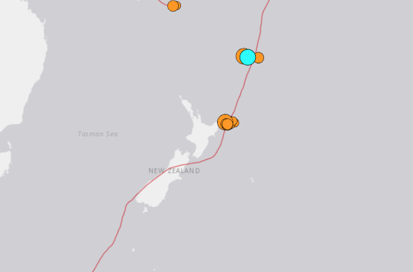 Map of magnitude 8.1 quake