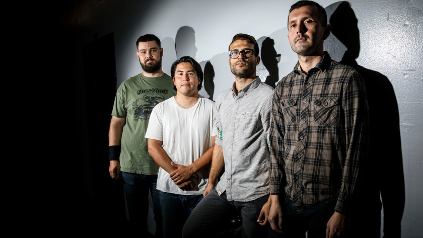 The punk band Dangers, featuring, from left, Justin Smith, Anthony Rivera, Alfred Brown IV and Chris Conde.