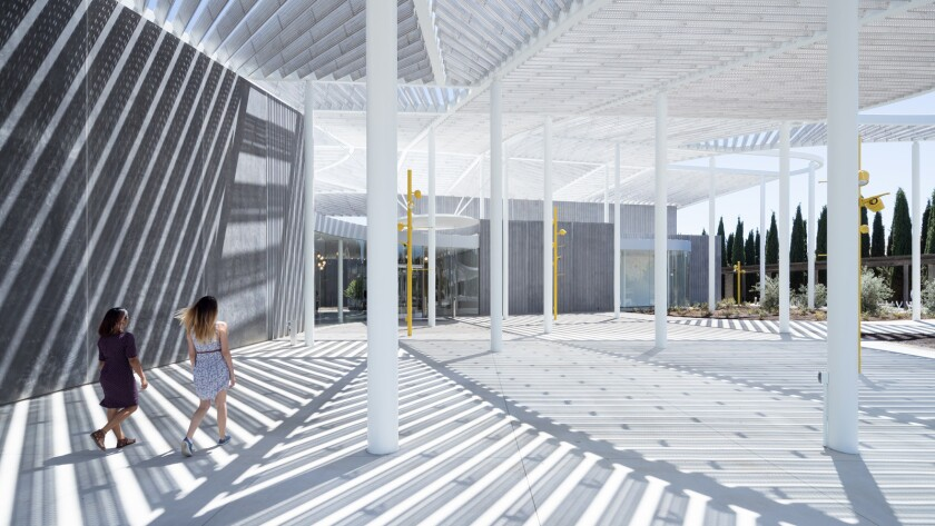 The Events Plaza at the Jan Shrem and Maria Manetti Shrem Museum of Art at UC Davis.