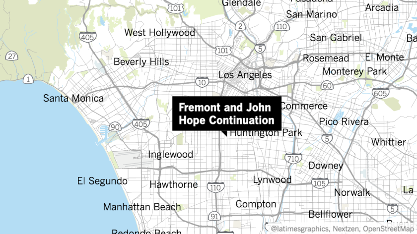 Fremont High School on San Pedro Street and John Hope Continuation High School on Towne Avenue were on lockdown Thursday morning.