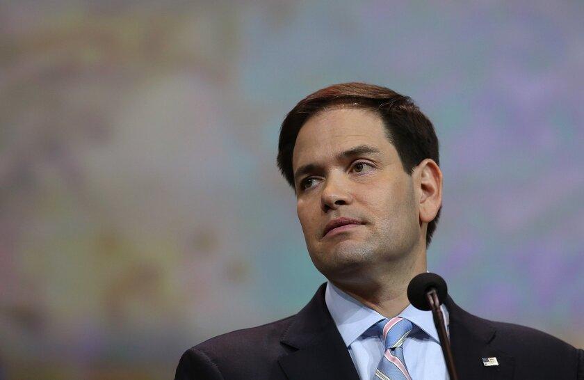 U.S. Sen. Marco Rubio (R-Fla.) speaks during the annual NRA meeting last week in Nashville.
