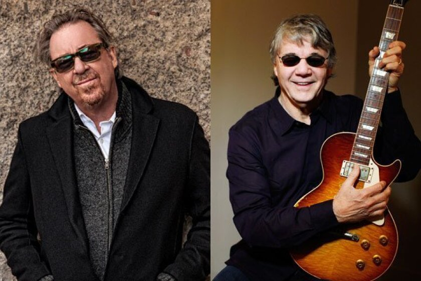 Boz Scaggs (left) and Steve Miller first played in a band together in 1955. Each achieved stardom on their own in the 1970s. Both will perform in San Diego in the coming week with their respective bands.