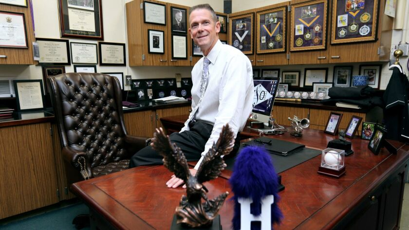 After ten years at Hoover High School, director of instrumental music Martin Rhees, at his office on