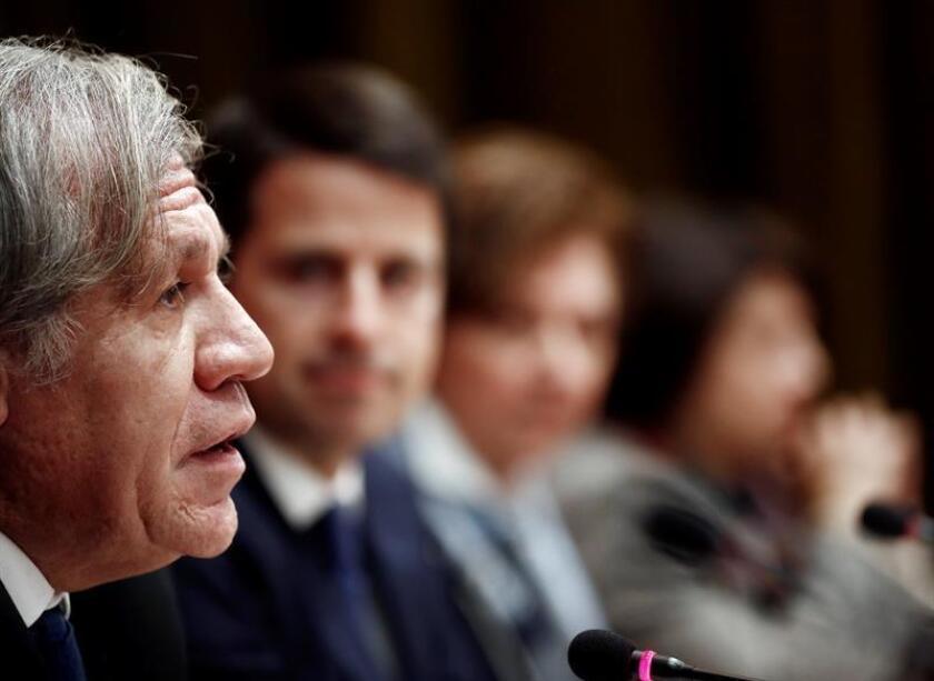 El secretario general de la Organización de los Estados Americanos (OEA), Luis Almagro, durante una conferencia de prensa. EFE/Archivo