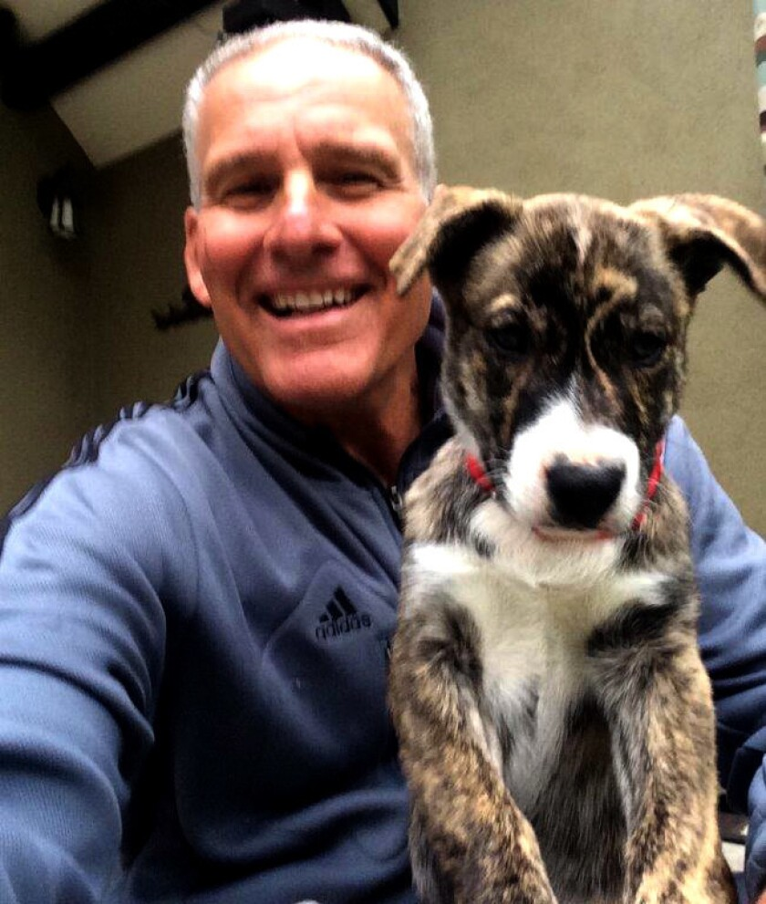 Gary Klein and his family's puppy, Toni.