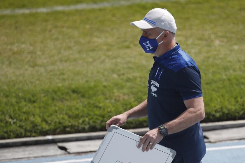 Honduras' national soccer team head coach Fabian Coito
