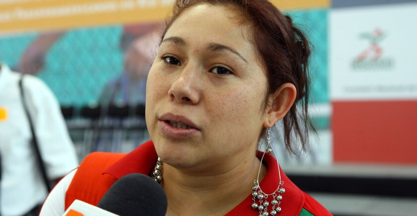 Doramitzi González, nadadora mexicana.