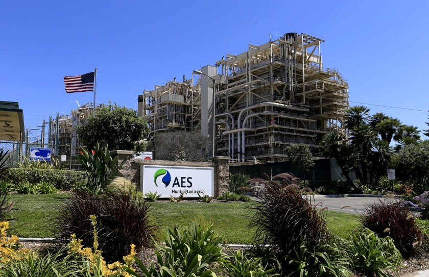 The proposed Poseidon water desalination plant would be located next to the AES power station in Huntington Beach.