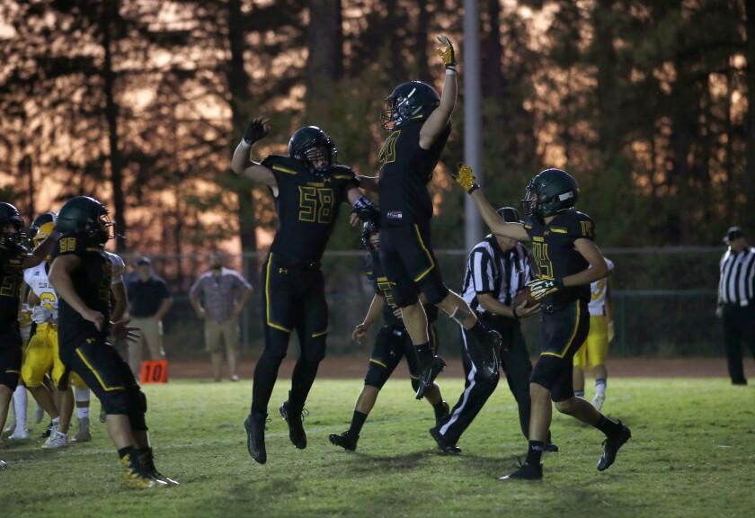 Paradise High School football win